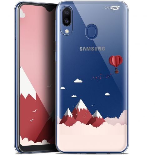 "Coque Gel Samsung Galaxy M20 (6.3"") Extra Fine Motif -  Montagne En Montgolfière"