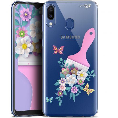 "Coque Gel Samsung Galaxy M20 (6.3"") Extra Fine Motif -  Pinceau à Fleurs"