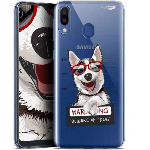 "Coque Gel Samsung Galaxy M20 (6.3"") Extra Fine Motif -  Beware The Husky Dog"