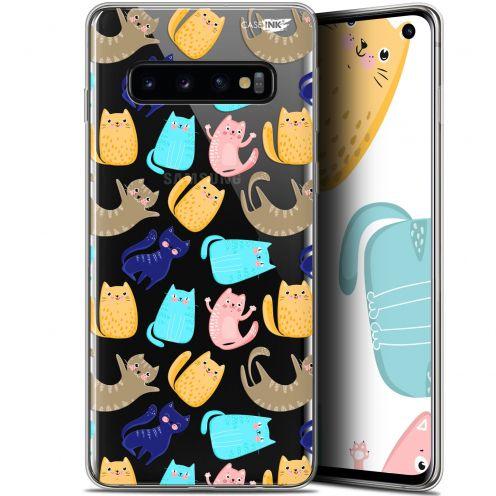 "Coque Gel Samsung Galaxy S10 (6.1"") Extra Fine Motif - Chat Danse"