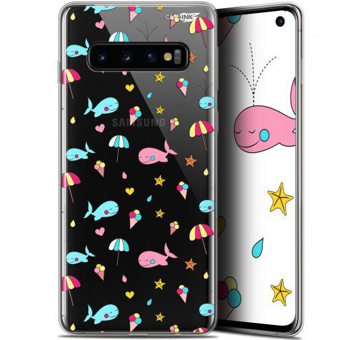 """Coque Gel Samsung Galaxy S10 (6.1"""") Extra Fine Motif - Baleine à la Plage"""