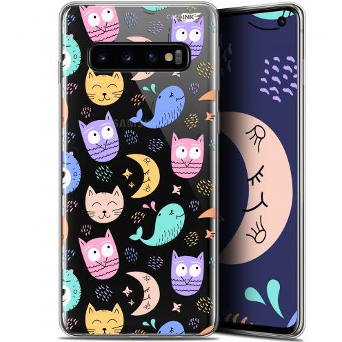 "Coque Gel Samsung Galaxy S10 (6.1"") Extra Fine Motif -  Chat Hibou"