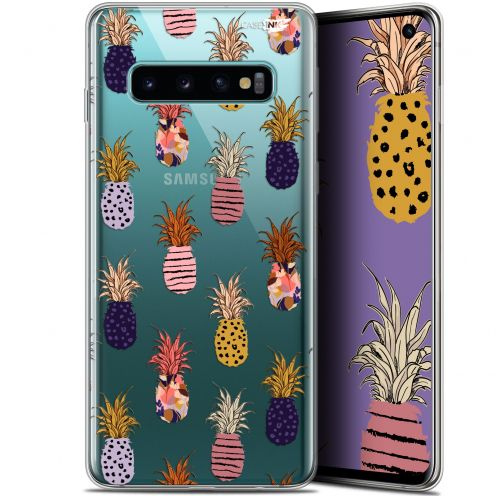 "Coque Gel Samsung Galaxy S10 (6.1"") Extra Fine Motif - Ananas Gold"