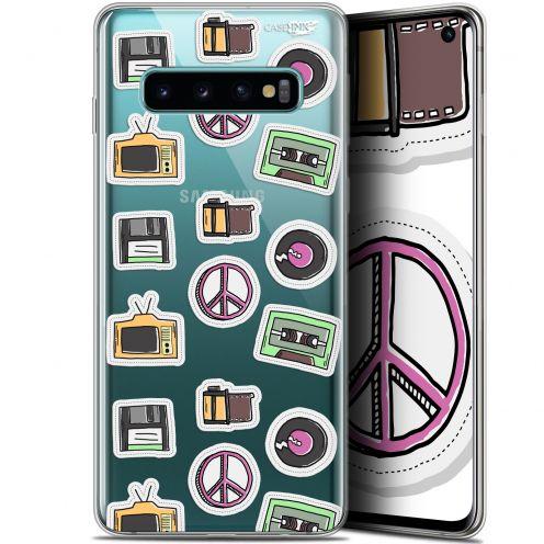 """Coque Gel Samsung Galaxy S10 (6.1"""") Extra Fine Motif - Vintage Stickers"""