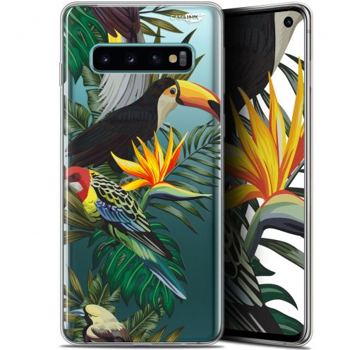"Coque Gel Samsung Galaxy S10 (6.1"") Extra Fine Motif - Toucan Tropical"