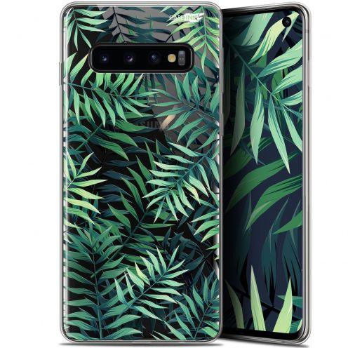 "Coque Gel Samsung Galaxy S10 (6.1"") Extra Fine Motif - Feuilles des Tropiques"