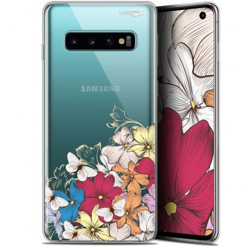 """Coque Gel Samsung Galaxy S10 (6.1"""") Extra Fine Motif - Nuage Floral"""