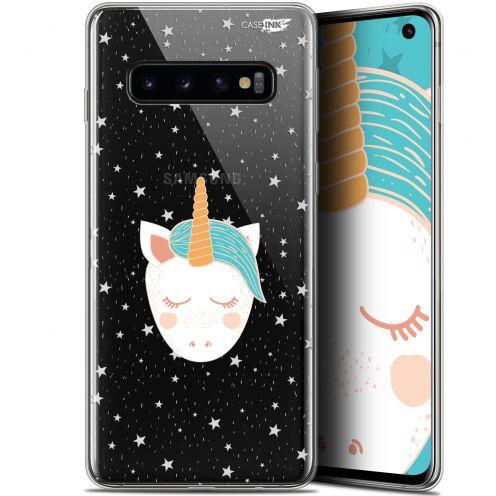 "Coque Gel Samsung Galaxy S10 (6.1"") Extra Fine Motif - Licorne Dors"