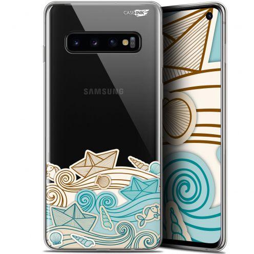 """Coque Gel Samsung Galaxy S10 (6.1"""") Extra Fine Motif -  Bateau de Papier"""
