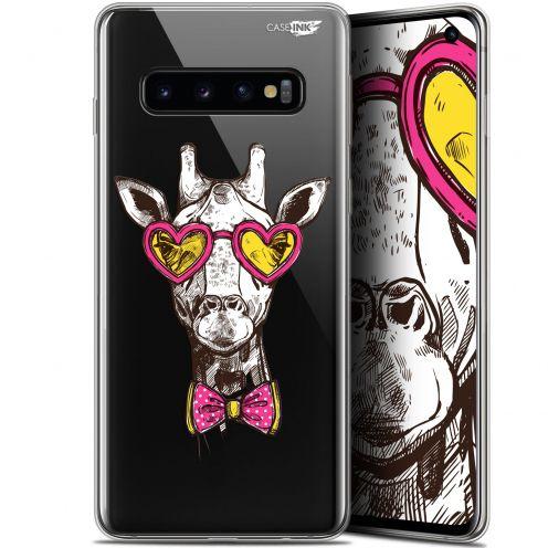 "Coque Gel Samsung Galaxy S10 (6.1"") Extra Fine Motif - Hipster Giraffe"
