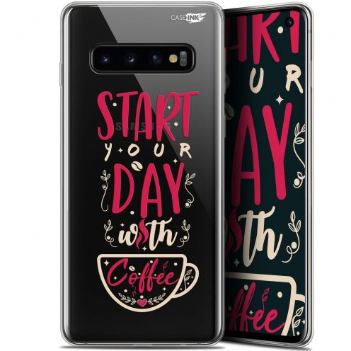 "Coque Gel Samsung Galaxy S10 (6.1"") Extra Fine Motif - Start With Coffee"
