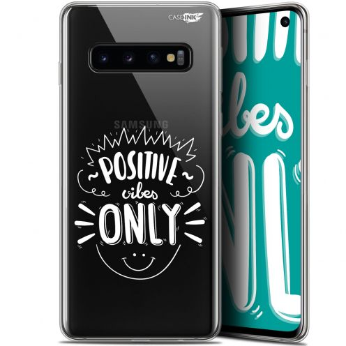 """Coque Gel Samsung Galaxy S10 (6.1"""") Extra Fine Motif - Positive Vibes Only"""
