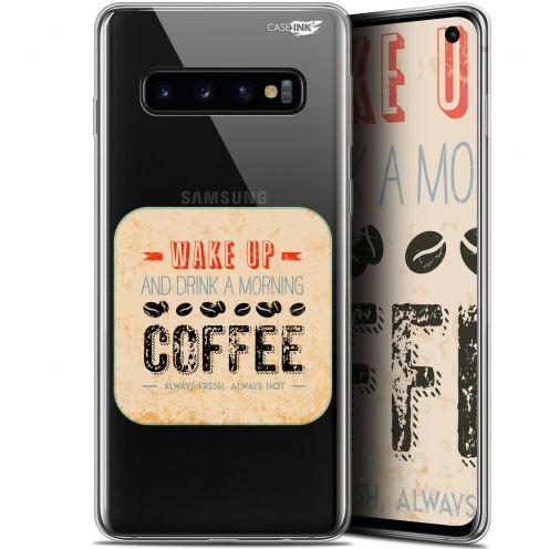 "Coque Gel Samsung Galaxy S10 (6.1"") Extra Fine Motif -  Wake Up With Coffee"