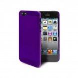 Vue complémentaire de Coque Crystal iPhone 5 Violet