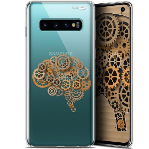 "Coque Gel Samsung Galaxy S10 (6.1"") Extra Fine Motif - Mécanismes du Cerveau"