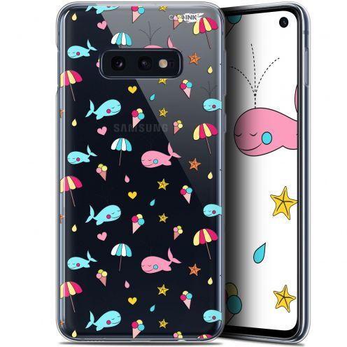 """Coque Gel Samsung Galaxy S10e (5.8"""") Extra Fine Motif - Baleine à la Plage"""