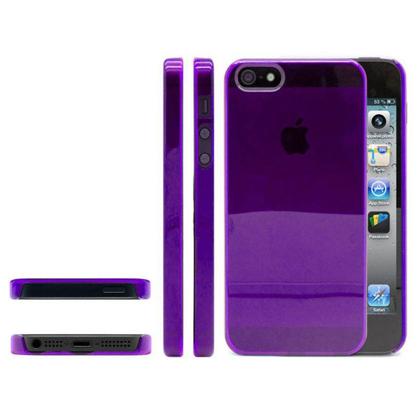 Photo réelle de Coque Crystal iPhone 5 Violet