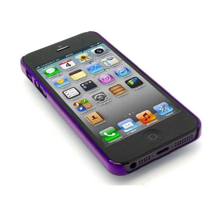 Vue portée de Coque Crystal iPhone 5 Violet