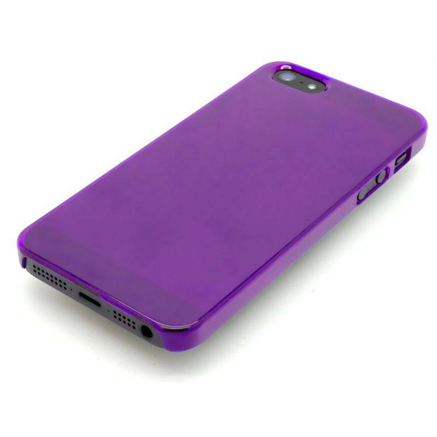 Visuel unique de Coque Crystal iPhone 5 Violet