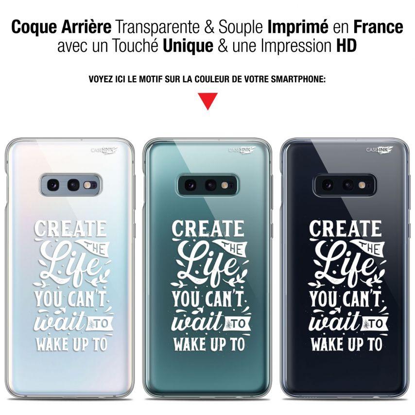 "Coque Gel Samsung Galaxy S10e (5.8"") Extra Fine Motif - Wake Up Your Life"