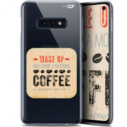 "Coque Gel Samsung Galaxy S10e (5.8"") Extra Fine Motif - Wake Up With Coffee"