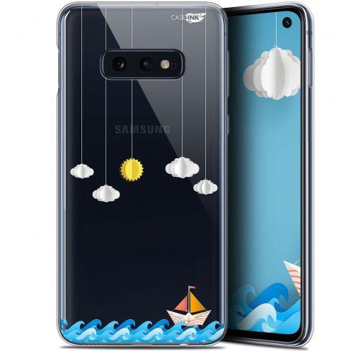 "Coque Gel Samsung Galaxy S10e (5.8"") Extra Fine Motif - Petit Bateau en Mer"