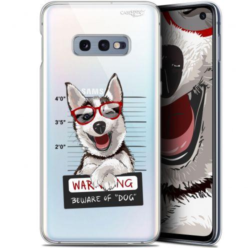 """Coque Gel Samsung Galaxy S10e (5.8"""") Extra Fine Motif - Beware The Husky Dog"""