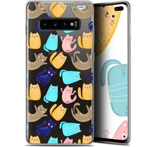 "Coque Gel Samsung Galaxy S10+ (6.4"") Extra Fine Motif - Chat Danse"