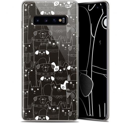 "Coque Gel Samsung Galaxy S10+ (6.4"") Extra Fine Motif -  Chien Blanc"