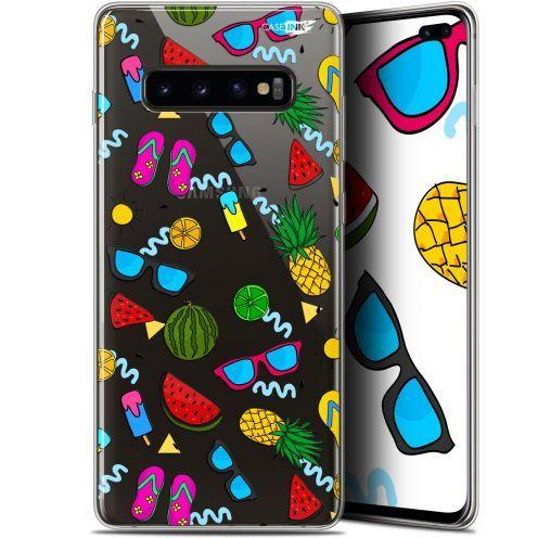 "Coque Gel Samsung Galaxy S10+ (6.4"") Extra Fine Motif -  Summers"