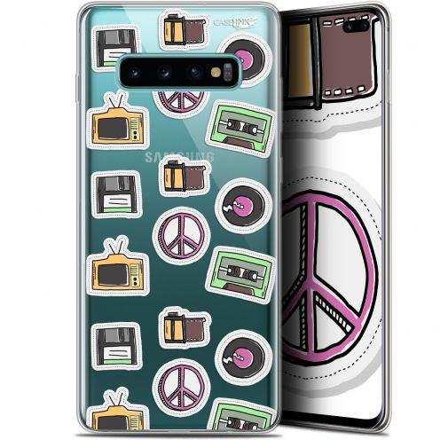 """Coque Gel Samsung Galaxy S10+ (6.4"""") Extra Fine Motif -  Vintage Stickers"""