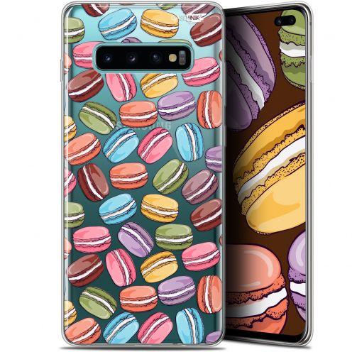 "Coque Gel Samsung Galaxy S10+ (6.4"") Extra Fine Motif -  Macarons"