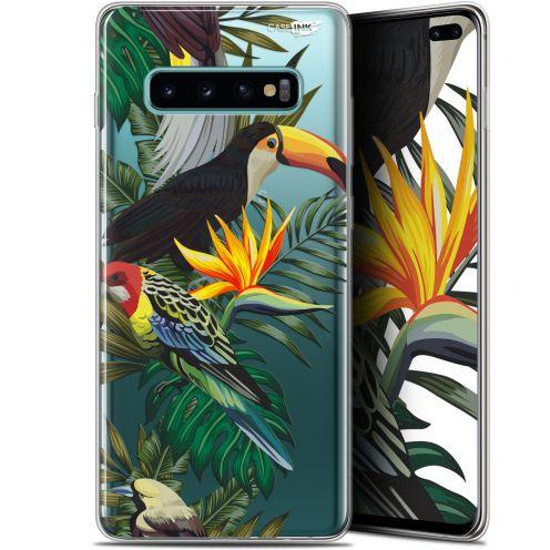 "Coque Gel Samsung Galaxy S10+ (6.4"") Extra Fine Motif -  Toucan Tropical"