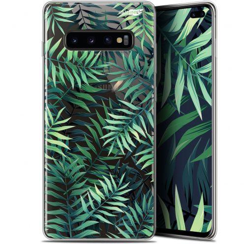 "Coque Gel Samsung Galaxy S10+ (6.4"") Extra Fine Motif -  Feuilles des Tropiques"
