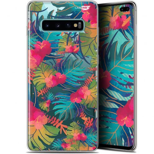 "Coque Gel Samsung Galaxy S10+ (6.4"") Extra Fine Motif -  Couleurs des Tropiques"