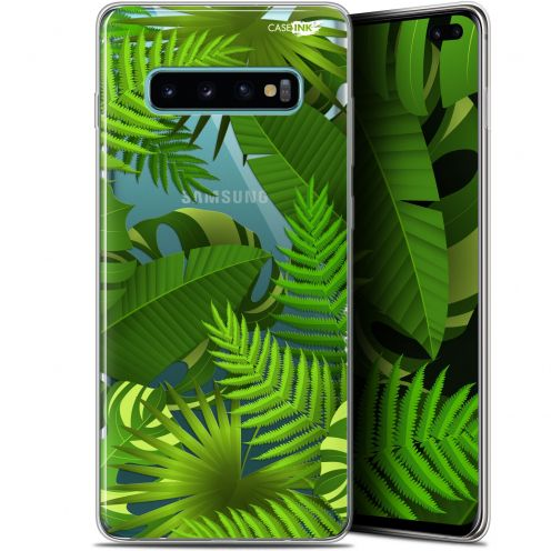 """Coque Gel Samsung Galaxy S10+ (6.4"""") Extra Fine Motif -  Plantes des Tropiques"""