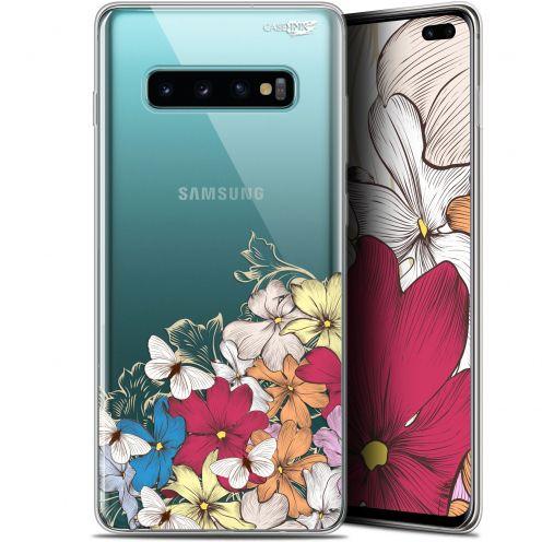 """Coque Gel Samsung Galaxy S10+ (6.4"""") Extra Fine Motif -  Nuage Floral"""