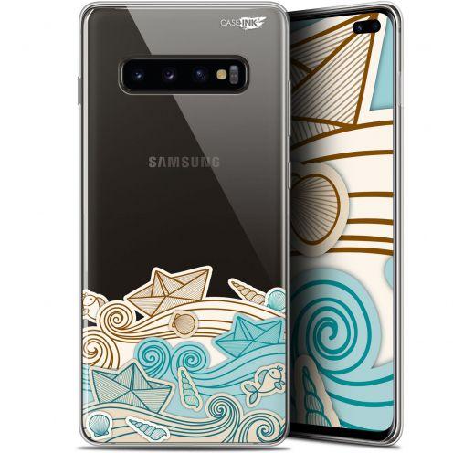 """Coque Gel Samsung Galaxy S10+ (6.4"""") Extra Fine Motif -  Bateau de Papier"""