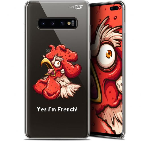 """Coque Gel Samsung Galaxy S10+ (6.4"""") Extra Fine Motif -  I'm French Coq"""
