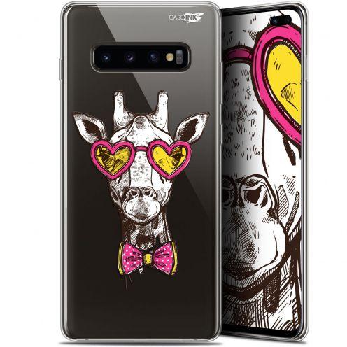 "Coque Gel Samsung Galaxy S10+ (6.4"") Extra Fine Motif -  Hipster Giraffe"