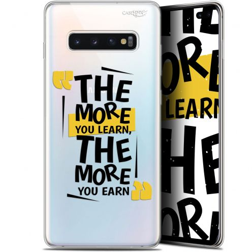 """Coque Gel Samsung Galaxy S10+ (6.4"""") Extra Fine Motif -  The More You Learn"""