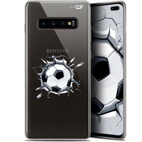 """Coque Gel Samsung Galaxy S10+ (6.4"""") Extra Fine Motif -  Le Balon de Foot"""