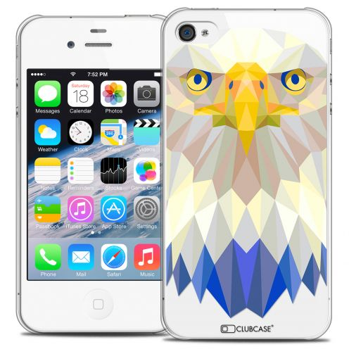 Coque Crystal iPhone 4/4S Extra Fine Polygon Animals - Aigle