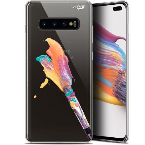 """Coque Gel Samsung Galaxy S10+ (6.4"""") Extra Fine Motif -  Pinceau de Peinture"""