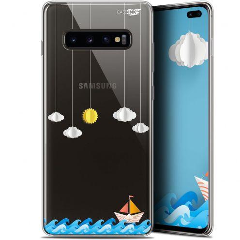 "Coque Gel Samsung Galaxy S10+ (6.4"") Extra Fine Motif -  Petit Bateau en Mer"