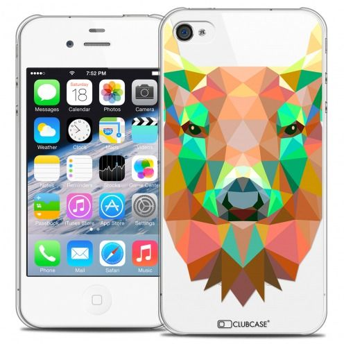 Coque Crystal iPhone 4/4S Extra Fine Polygon Animals - Cerf