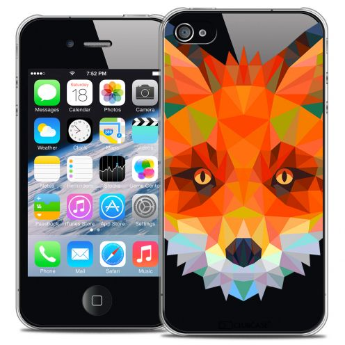 Coque Crystal iPhone 4/4S Extra Fine Polygon Animals - Renard