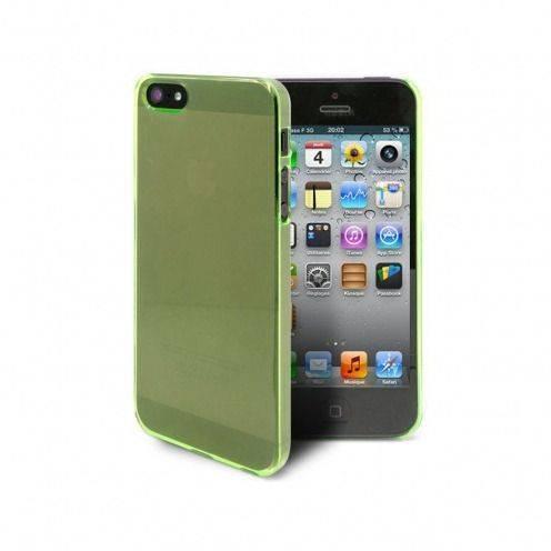 Vue complémentaire de Coque Crystal iPhone 5 Vert