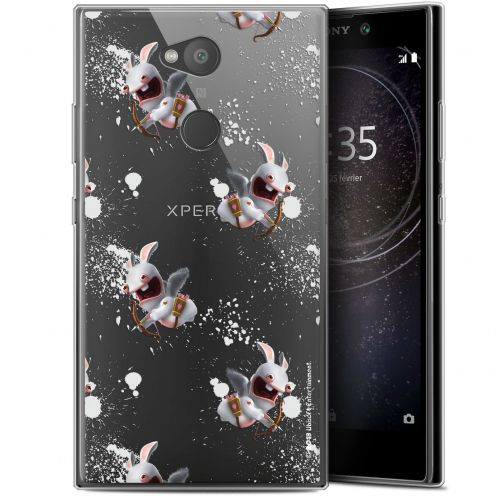"""Coque Gel Sony Xperia L2 (5.7"""") Extra Fine Lapins Crétins™ - Cupidon Pattern"""