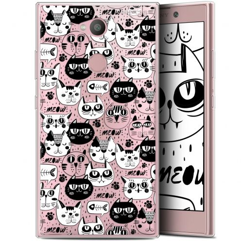 """Coque Gel Sony Xperia L2 (5.5"""") Extra Fine Motif - Chat Noir Chat Blanc"""